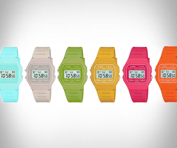 Casio F91W colors