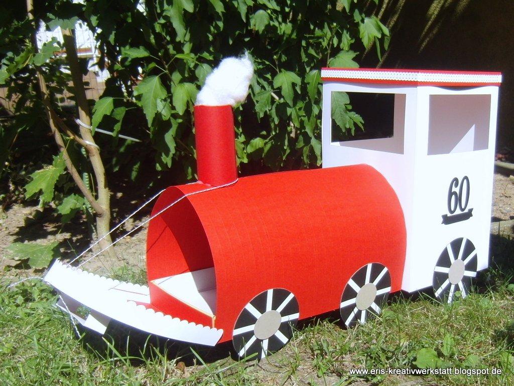 Geldgeschenke Basteln Lokomotive Buchstabenzug Lok Maila Waggon