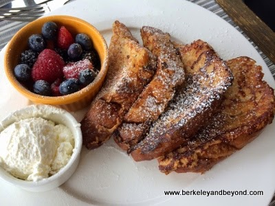 French toast at 5200 Restaurant at The Heritage House Resort near Mendocino in Little River, California