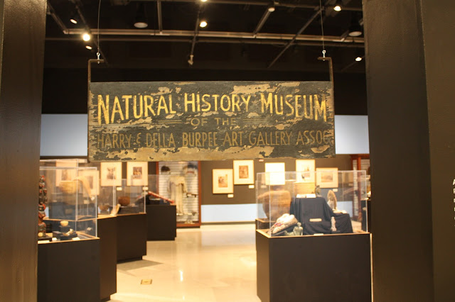 Historical sign of the Burpee Museum of Natural History