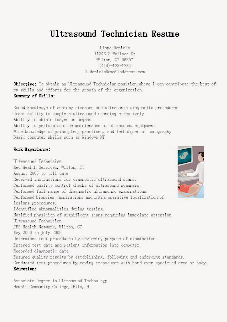 Resume Samples Ultrasound Technician Sample