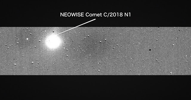 tess catches a comet before starting science