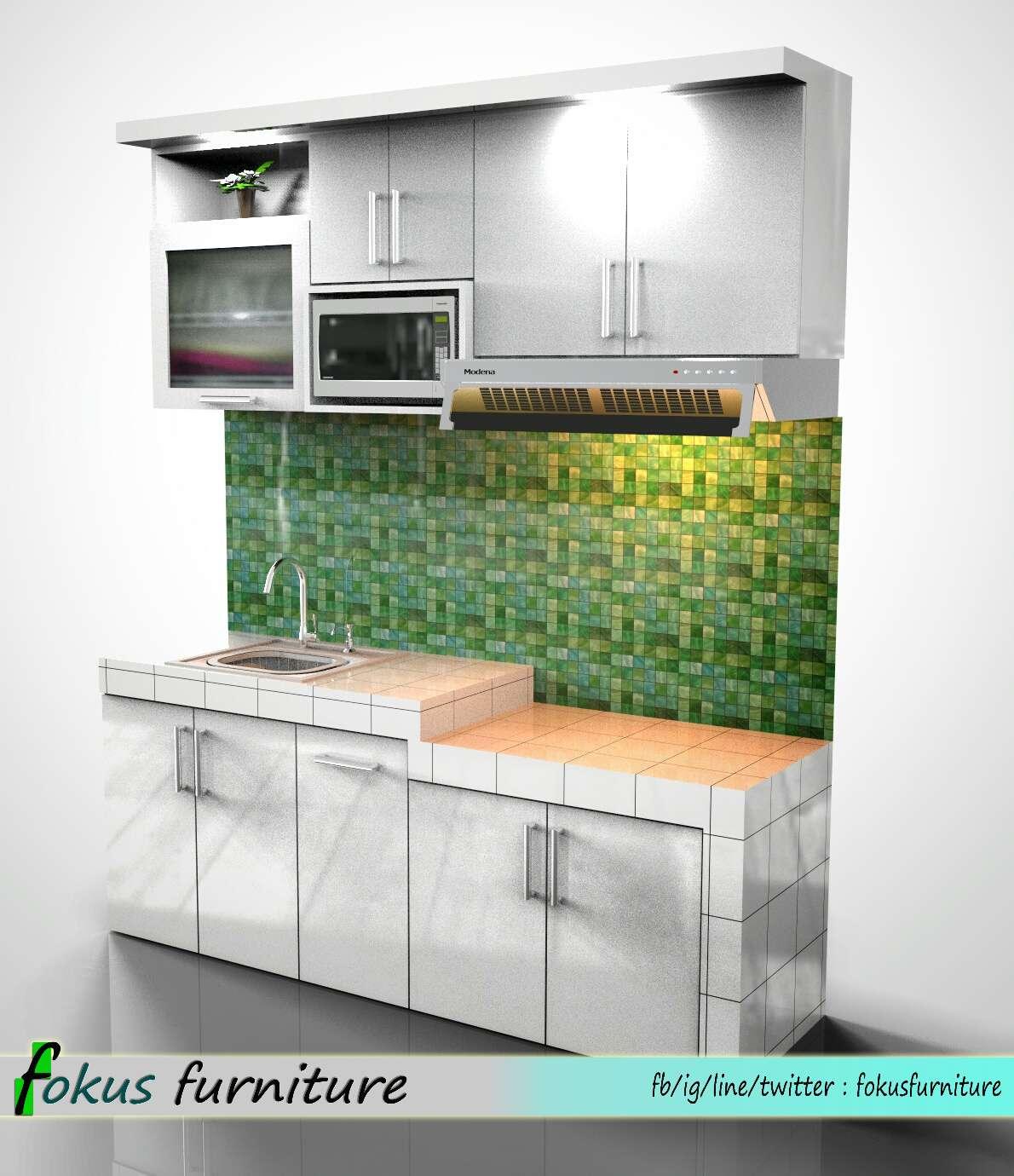 Desain Dapur Model Lurus Gambar Desain Rumah Minimalis