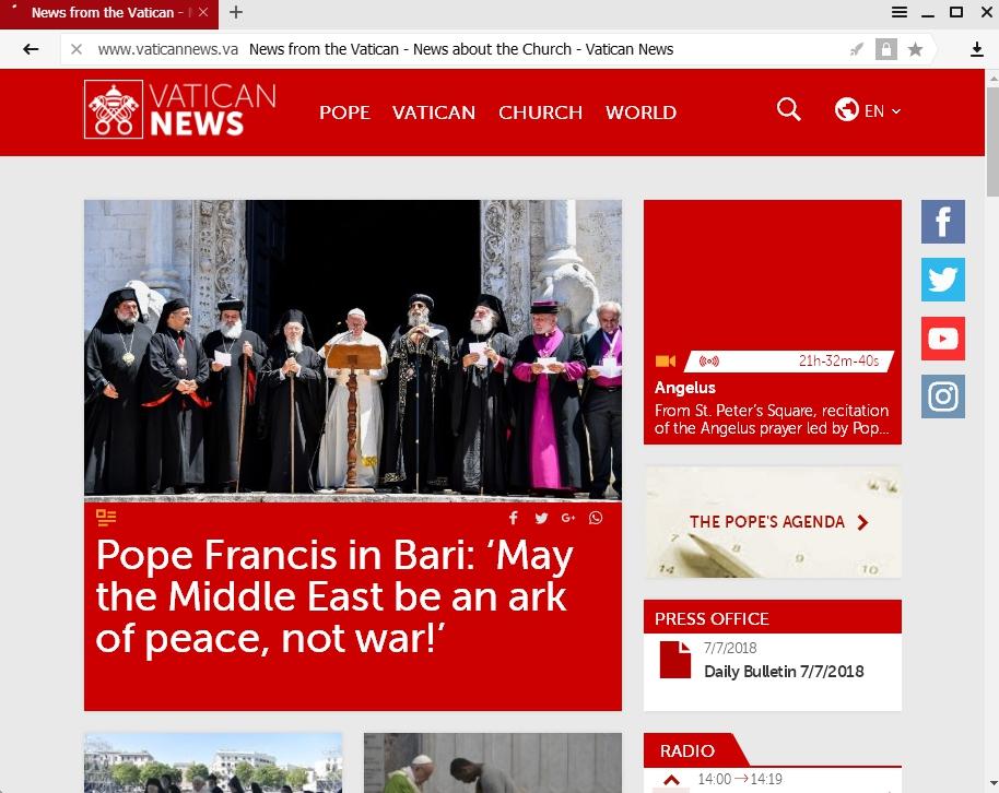 Pertemuan Paus Francis dengan Pemimpin  Gereja Timur
