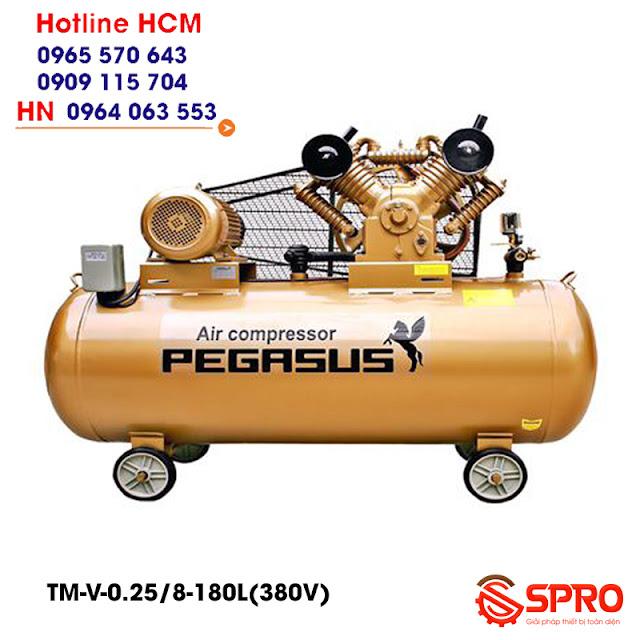 Máy nén khí Pegasus 3hp TM-V-0.25/8-180-380