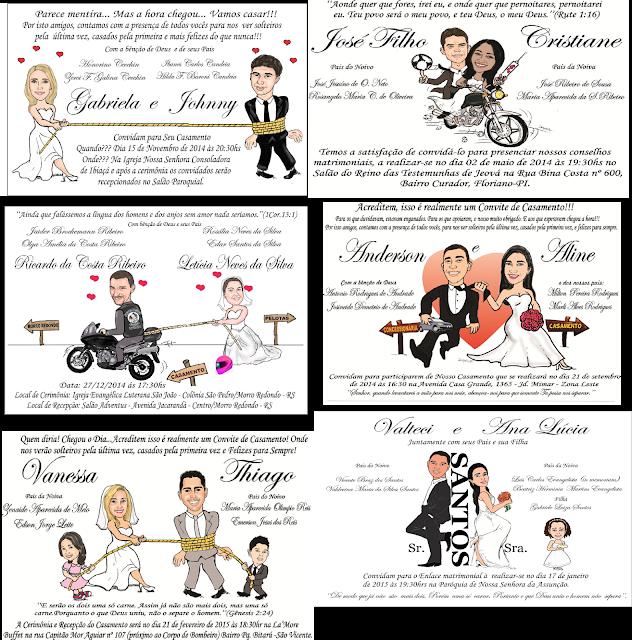 Convite Caricatura casamento