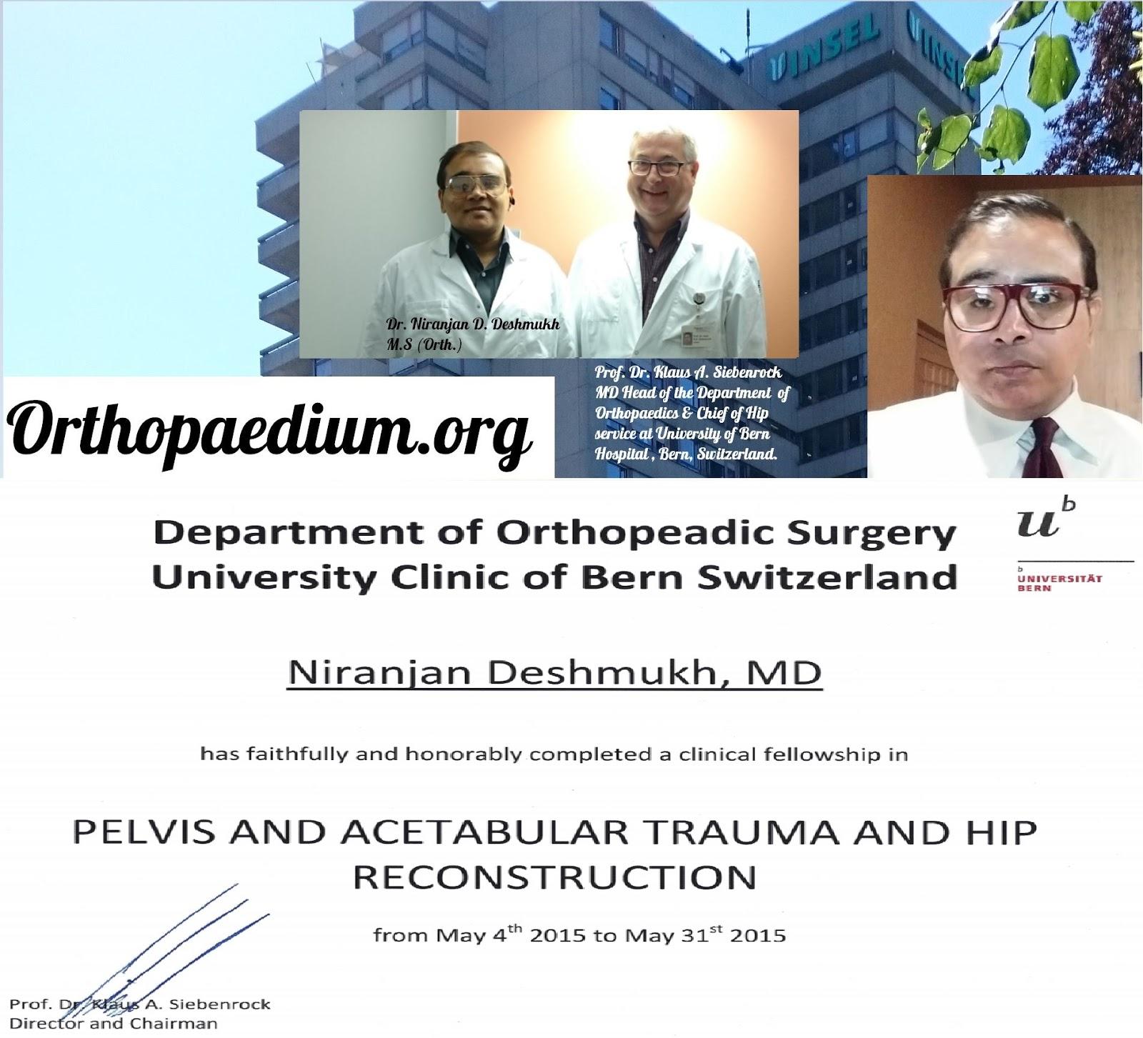 Dr Niranjan Deshmukh|Orthopedic Surgeon|Spine|Hip Ankle Knee