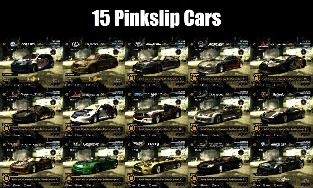 nfs most wanted blacklist 1 - latest lovely