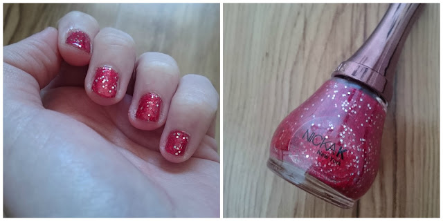 Nicka K Glitter Red Nail Varnish Swatch