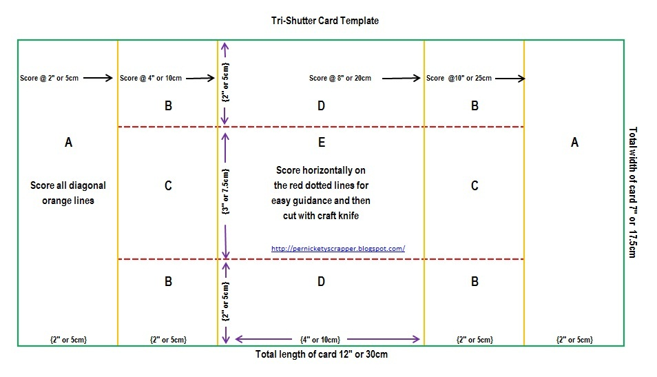 The Per(s)nickety Scrapper Tri-Shutter Card Templates and Tutorial