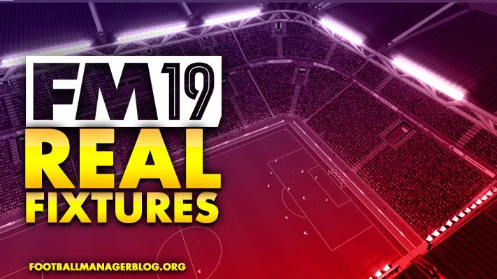 FM19 Real Fixtures - 102 Leagues