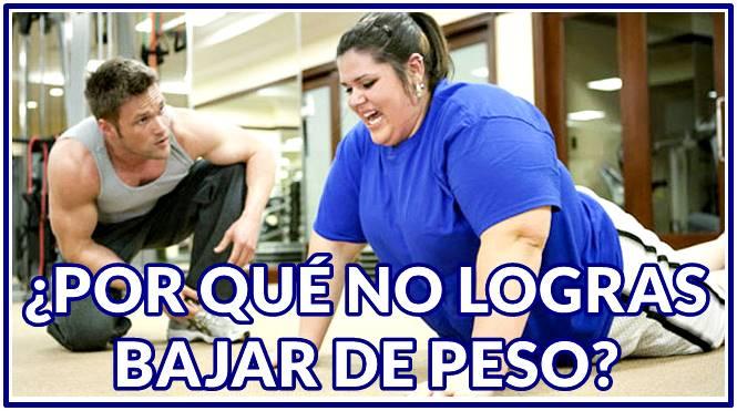 ¿Por qué hago ejercicio y no bajo de peso?