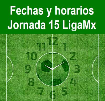 Guía de la jornada 15 del futbol mexicano