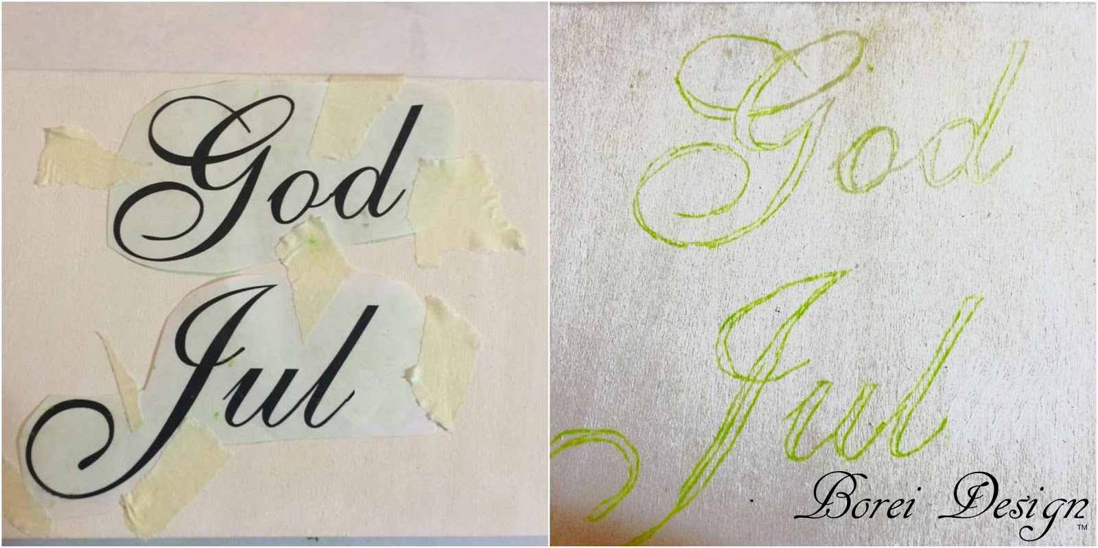 Easy diy whitewashed wood signs or ornaments tutorial for How to transfer design to wood