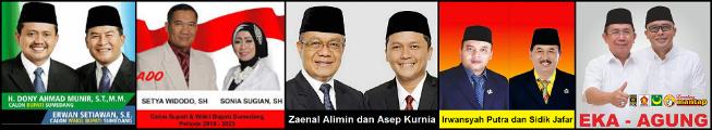 Lima pasang calon Bupati dan wakil Bupati Kabupaten Sumedang 2018