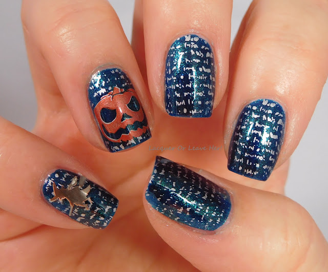 Spooky spellbook with Zoya Remy, UberChic Beauty Texture-licious and Halloween 02, and Girly Bits stamping polishes