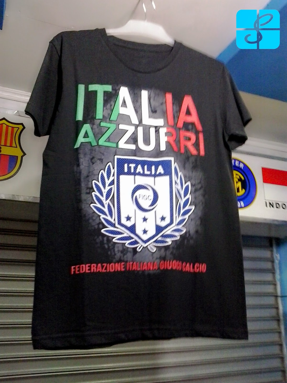kaos bola murah italia azzurri  setiya online store