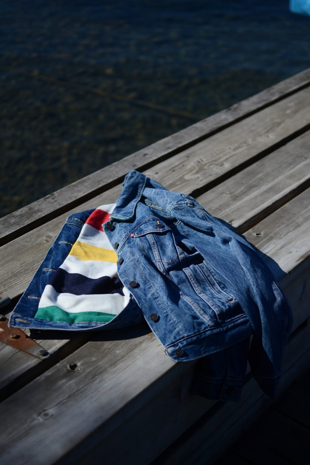 Hudsons bay x levis trucker jacket point blanket vancouver fashion blogger 3