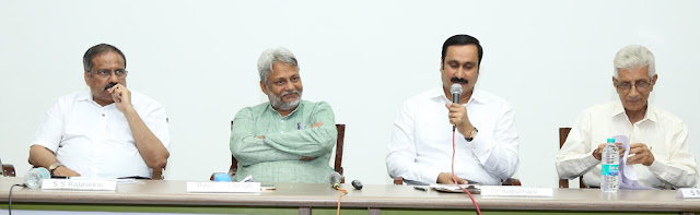 Panelists  - L to R : S S Rajasekar, Rajendra Singh, Dr Anbumani Ramadoss MP and S Ranganathan