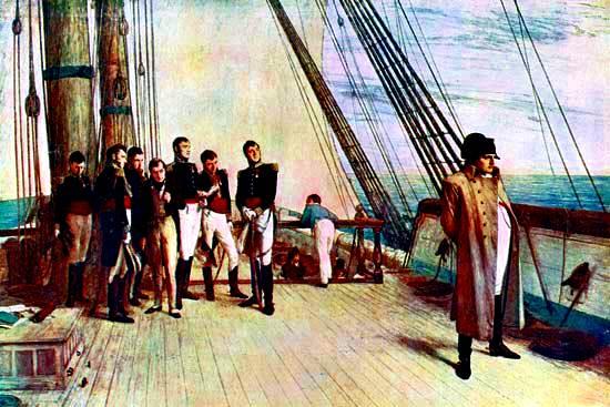 Napoleon a bordo del Bellerophon