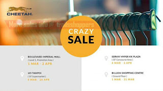 Crazy Sale Cheetah Group Fair Sabah 2017