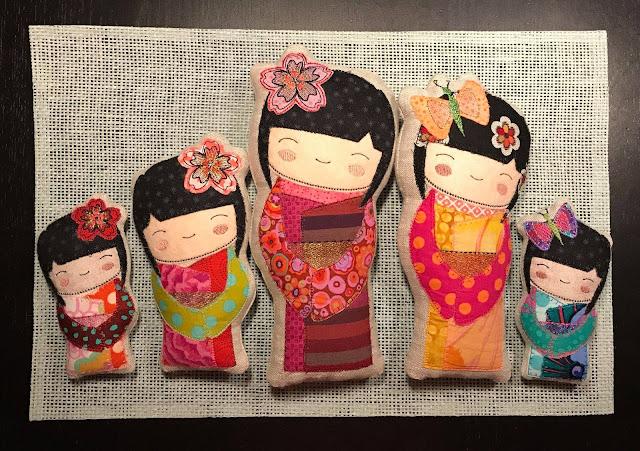szablony japońskich laleczek