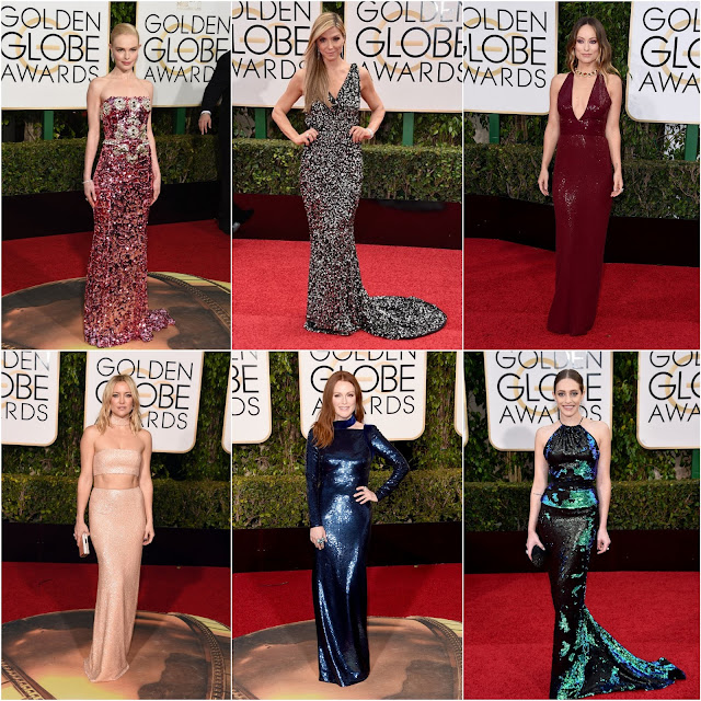 WHO WORE WHAT.....2016 Golden Globes Red Carpet: Trend Alert! Sequined Gowns