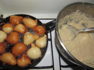 Frying puff puff