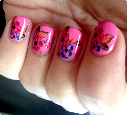 Sparkly-Nails Bright Bouquet Nail Water Decals