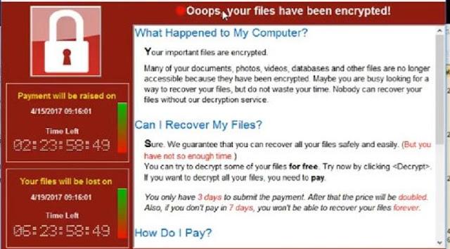 virus ransomeware wannacry menghilangkan komputer gratis mudah
