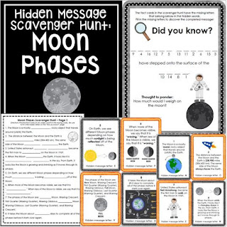 https://www.teacherspayteachers.com/Product/Moon-Phases-Scavenger-Hunt-Activity-Content-focused-1285230