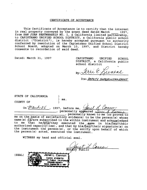 Documentation land ownership tesoro high school 241 extension grant deed 125 096 69 yadclub Images