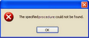 the Specified Procedure Could not be found