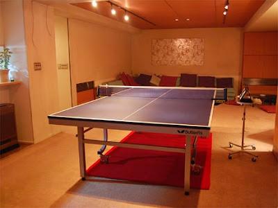 không gian chơi bóng bàn tại nhà