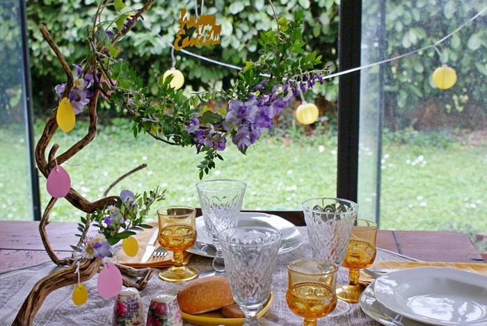 tavola primavera pasqua decorazione