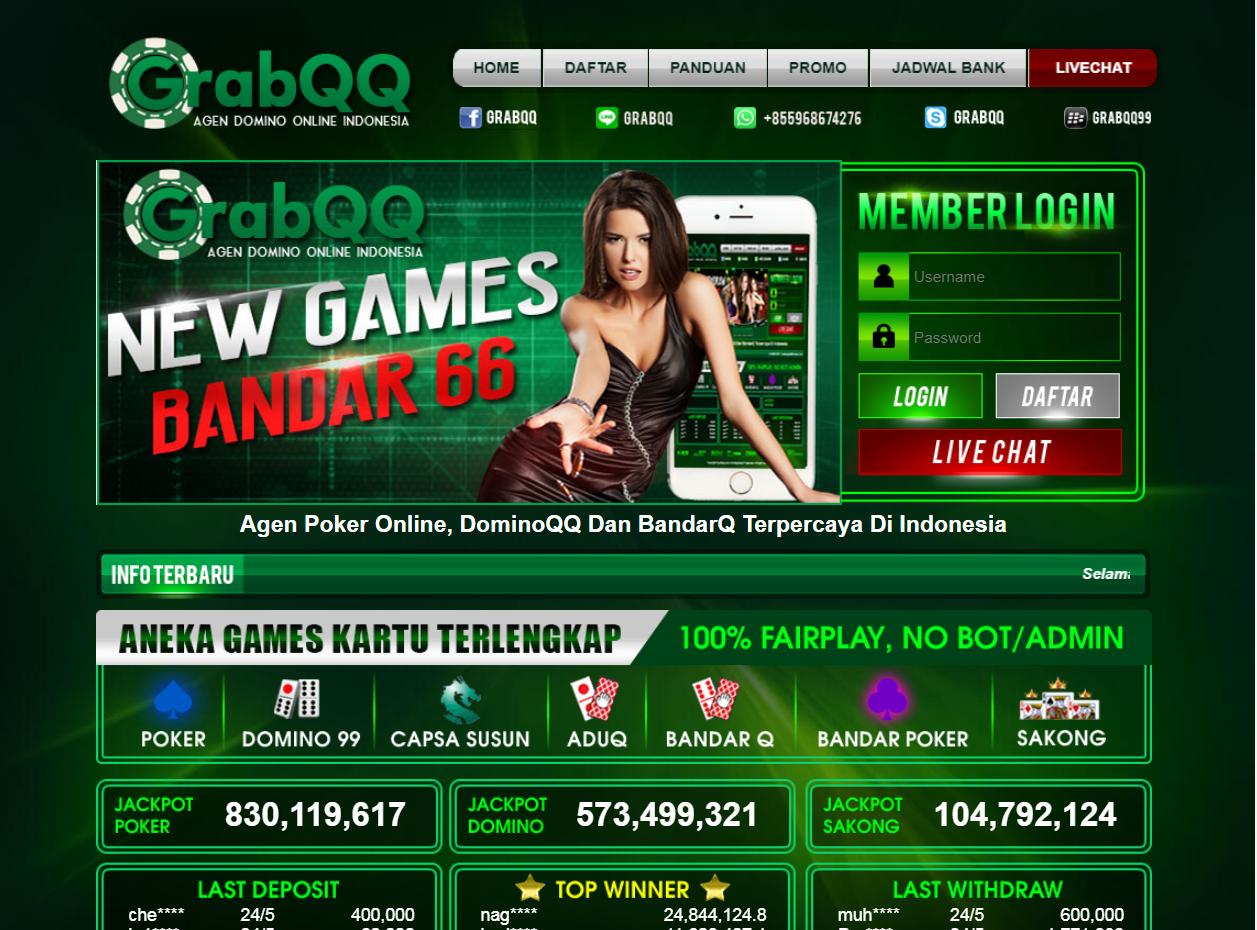 GrabQQ Agen Poker Online Terpopuler