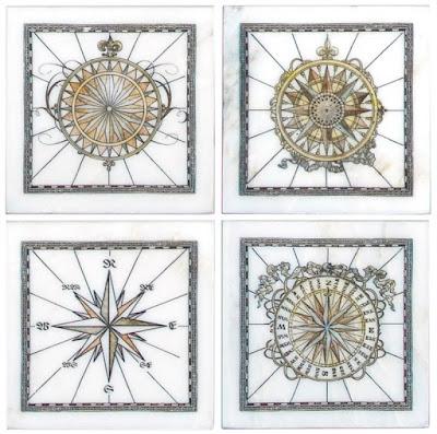 Compass accent tiles