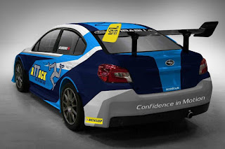 Subaru WRX STI Isle of Man TT Time Attack 2016 Rear Side
