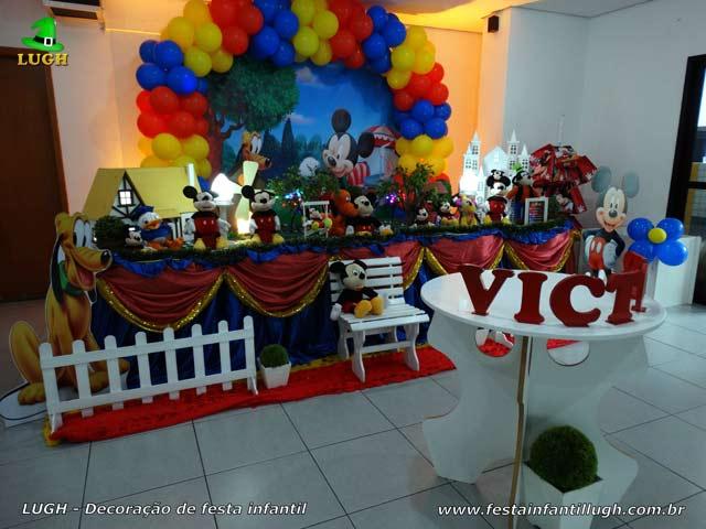 Decoração mesa luxo tema do Mickey - Festa de aniversário infantil - Jacarepaguá RJ