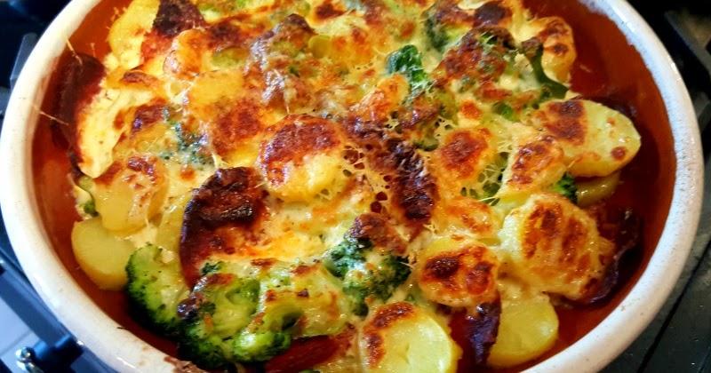La cuisine claudine gratin brocoli pommes de terre au chorizo et au parmesan pour adorer le - Pomme de terre pour gratin ...