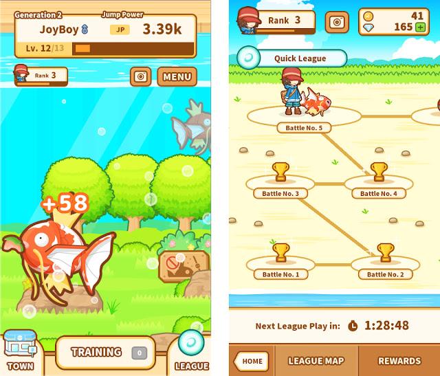 Pokemon: Magikarp Jump! Feeding League
