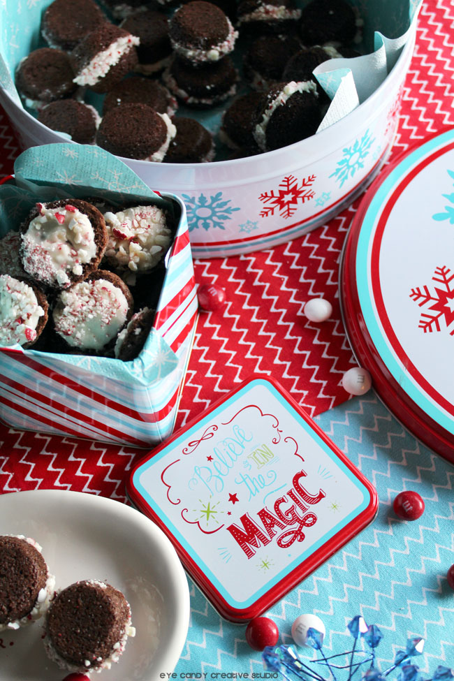 holiday baking, baking tins, gift ideas, brownie whoopie pies, M&Ms