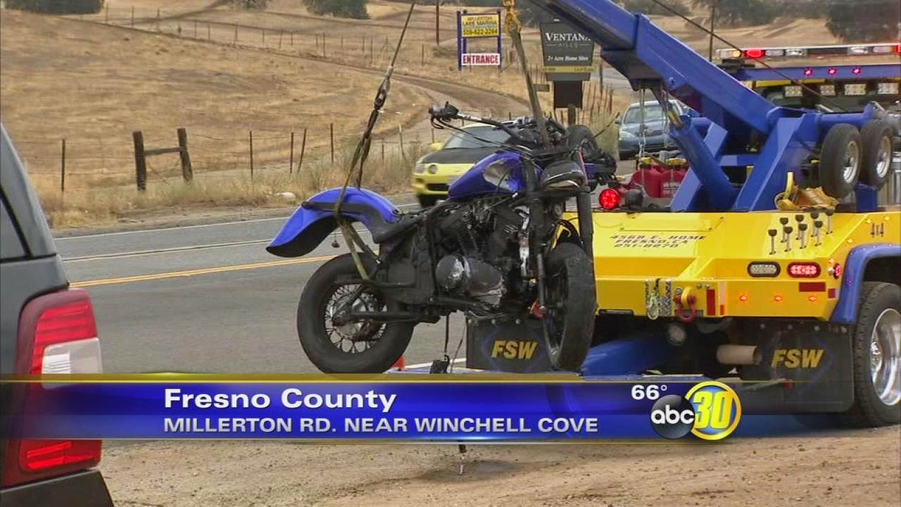 fresno county millerton lake road friant motorcycle suv accident fatality