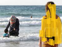 Perempuan Islam Berjilbab Didenda di Pantai Prancis