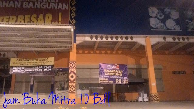 Jam Buka Mitra 10 Bandar Lampung