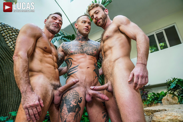 #LucasEntertainment - DYLAN JAMES FUCKS MANUEL SKYE AND GABRIEL PHOENIX