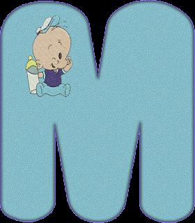 Abecedario con Popeye Bebé.