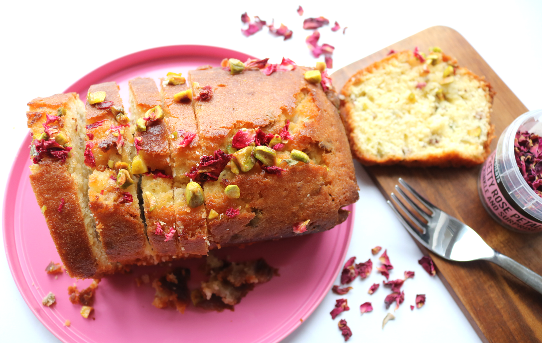 Pistachio, Lemon & Rose Drizzle Cake (Waitrose recipe / Vegetarian)