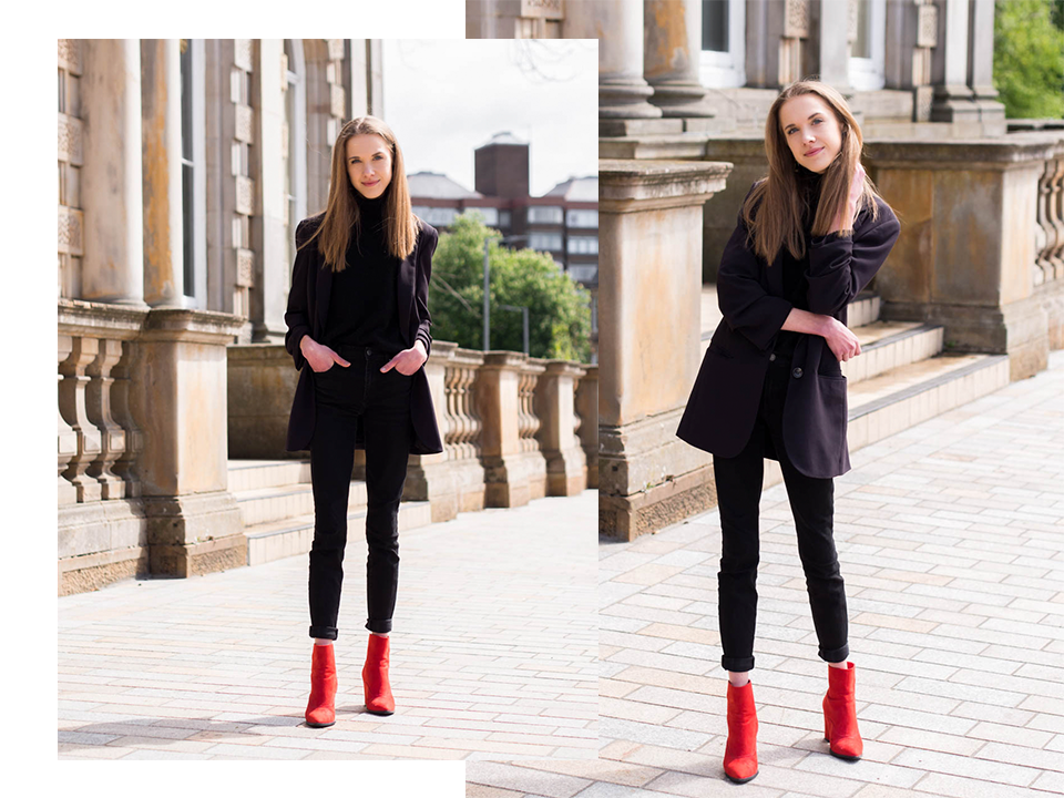 all-black-outfit-with-red-ankle-boots