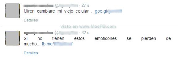 SPAM emoticones Twitter - MasFB